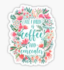 Coffee & Concealer – Juicy Palette Sticker