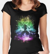 kingdom storm-rainbow version Women's Fitted Scoop T-Shirt