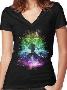 kingdom storm-rainbow version Women's Fitted V-Neck T-Shirt