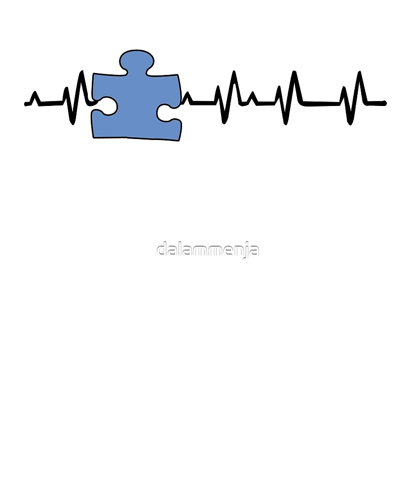 Autism Awareness Ribbon black by dalammenja