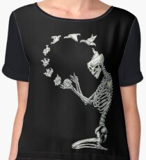 Creative Skeleton Chiffon Top