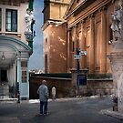Churchgoer's Watch -- Valletta Malta by Edwin  Catania