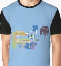 Map of Hawkthorne Graphic T-Shirt