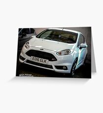 Ford Fiesta ST White Greeting Card