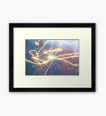 Lively Light Energy  Framed Print