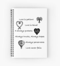Love is patient...(with hearts) Spiral Notebook