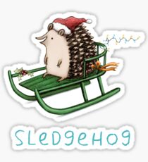 Sledgehog Sticker
