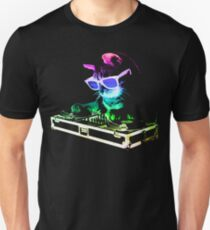 HAUS CAT (Regenbogen DJ Kitty) Slim Fit T-Shirt