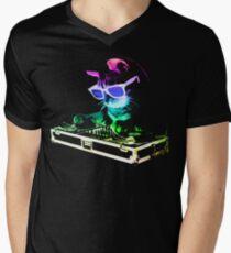 HOUSE CAT (Rainbow DJ Kitty) Men's V-Neck T-Shirt