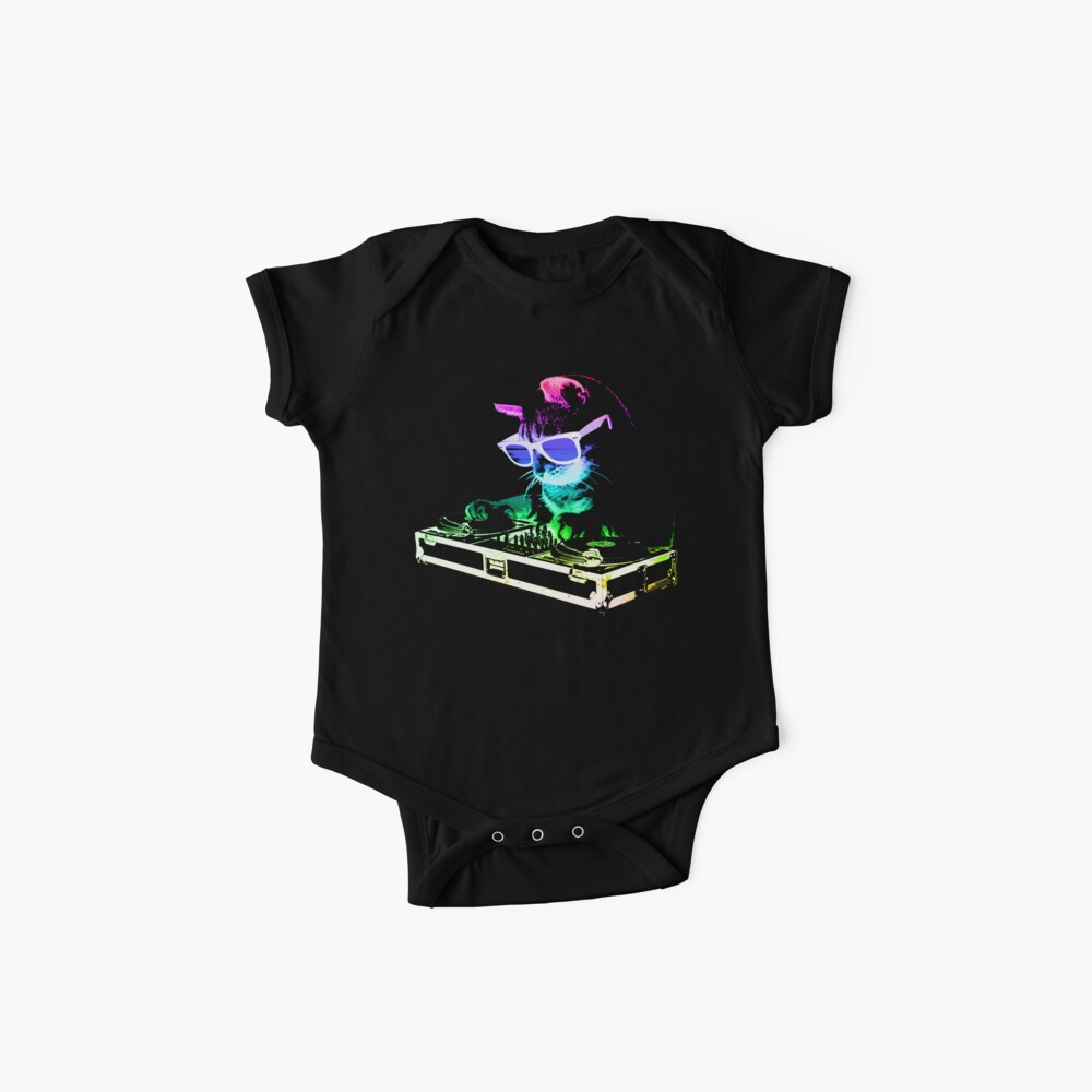 HOUSE CAT (Rainbow DJ Kitty) Baby One-Piece