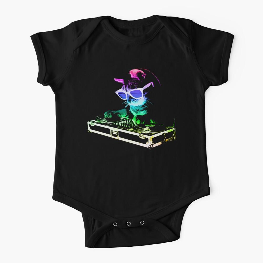 HOUSE CAT (Rainbow DJ Kitty) Baby One-Piece