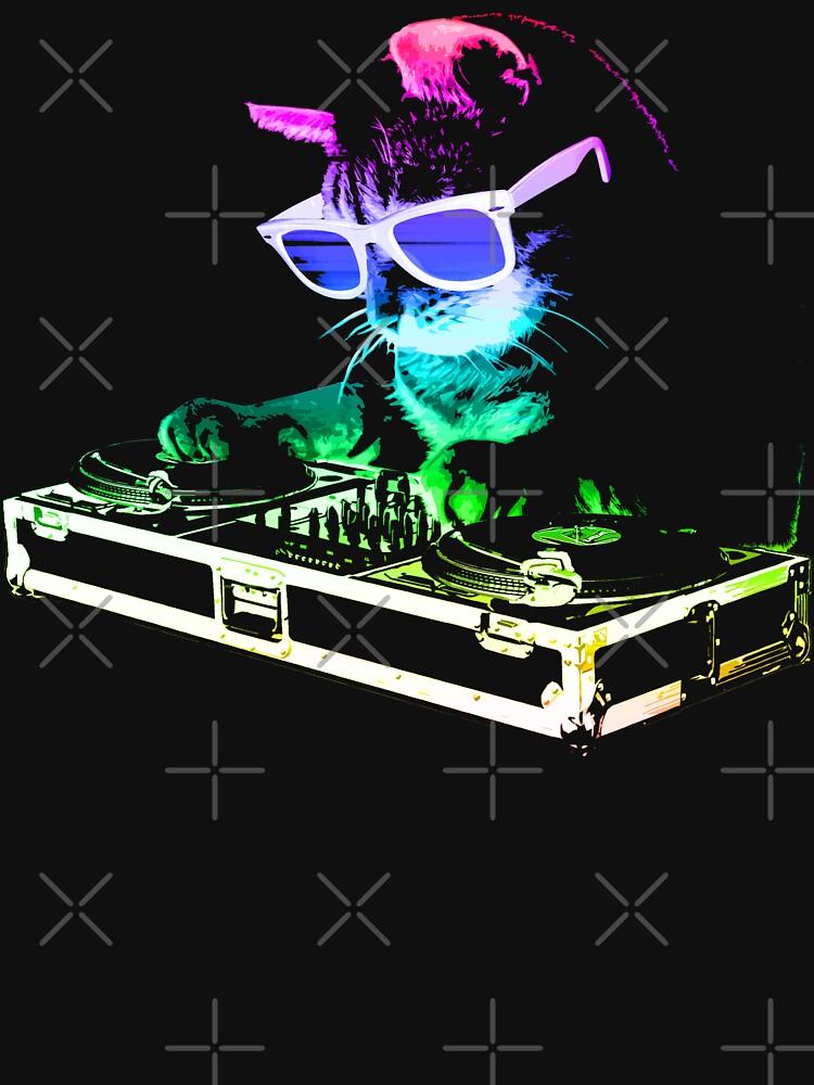 HAUS CAT (Regenbogen DJ Kitty) von robotface