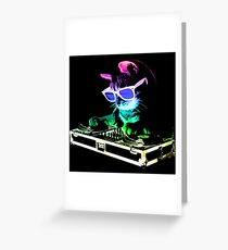HOUSE CAT (Rainbow DJ Kitty) Greeting Card