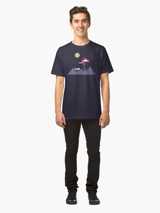 Alternate view of Moon Sailing Classic T-Shirt