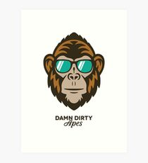 Damn Dirty Apes 01 Art Print