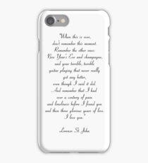 quote bonnie enzo vampire diaries iPhone Case/Skin