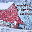 """Wishing Y'all A Country Christmas"" Christmas Card by Bob Hall©"