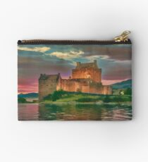 Eilean Donan Sunset Watercolour Effect Studio Pouch