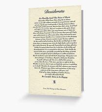 Original Desiderata Gedicht von Max Ehrmann Grußkarte