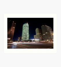 Potsdamer Platz at Night Art Print