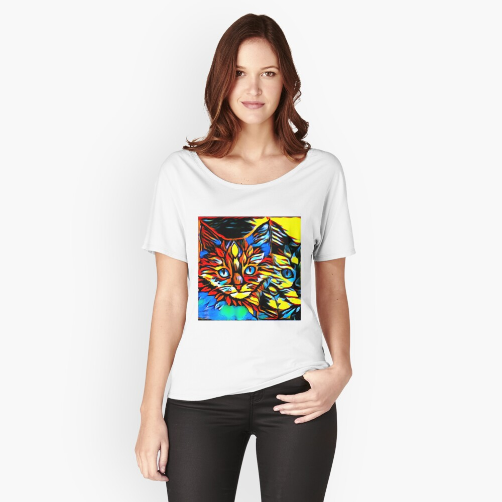 Painted Kittens Women's Relaxed Fit T-Shirt Front