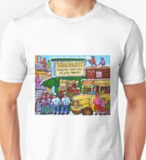 RUE ST.LAURENT VINTAGE GROCERY STORE SIMCHA'S FRUIT SHOP Unisex T-Shirt