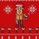 Ugly Christmas Sweater - Drink Dandy by BigFatRobot
