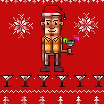 Ugly Christmas Sweater - Drink Dandy by BigFatRobot