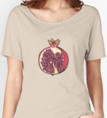 Pomegranate  Women's Relaxed Fit T-Shirt