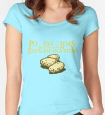 Po-tay-toes Women's Fitted Scoop T-Shirt