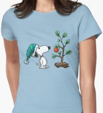 Christmas snoopy Women's Fitted T-Shirt