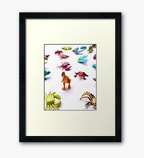 Toy T-Rex Army Framed Print