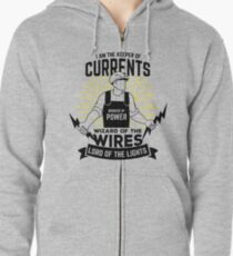 Electrician Quote Zipped Hoodie