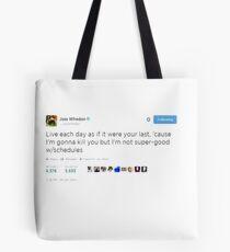 Joss Whedon Tweet Design Tote Bag