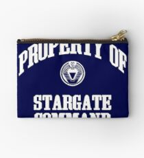 Property of Stargate Command Athletic Wear White ink Studio Pouch
