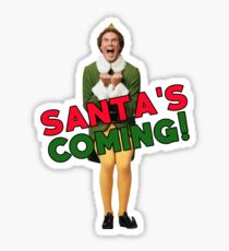 Buddy der Elf Christmas Santa Sticker