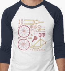 Bicycle Parts Men's Baseball ¾ T-Shirt