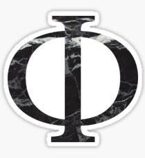 schwarzer Marmor phiiiii Sticker