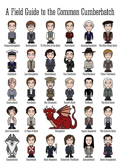 A Field Guide to the Common Cumberbatch (print/poster) by redscharlach