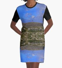 Dun Eochla Stone Fort - Inishmore Graphic T-Shirt Dress
