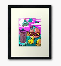 there's a lotta stuff happening here Framed Print