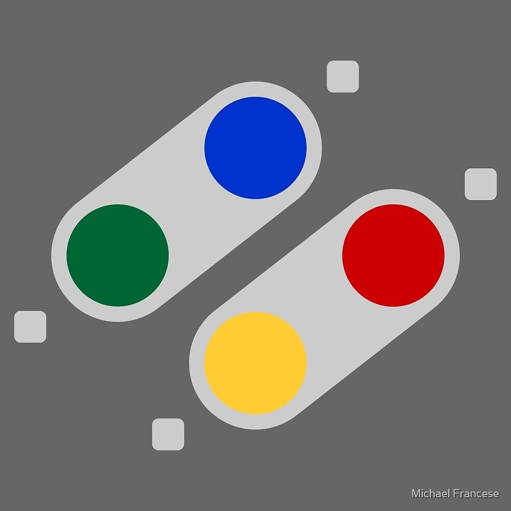 SNES Buttons (EU) by Michael Francese
