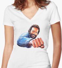 Bud Spencer Women's Fitted V-Neck T-Shirt