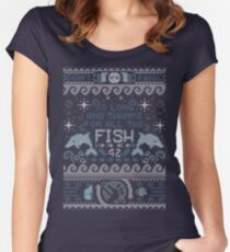 Thanks for the fish! Women's Fitted Scoop T-Shirt