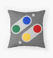 SNES Buttons (EU) Throw Pillow