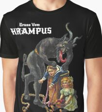 Gruss Vom Krampus Greetings From Christmas Demon  Graphic T-Shirt