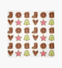 Gingerbread cookies in various shapes Scarf
