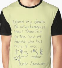 My Last Will And Testament Graphic T-Shirt