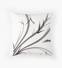 """My Dear Friend""  Original ink and wash ladybug bamboo painting/drawing Throw Pillow"