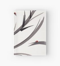 """""""My Dear Friend""""  Original ink and wash ladybug bamboo painting/drawing Hardcover Journal"""